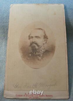 ORIGINAL CIVIL WAR CDV of Confederate General JOHN HUNT MORGAN