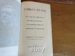 Old MCCLELLAN'S OWN STORY Leather Book 1887 GEORGE B. CIVIL WAR GENERAL MEMOIRS