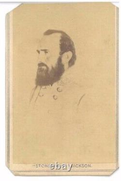 Original CIVIL War CDV Confederate General Stonewall Jackson Csa