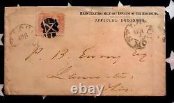 Original CIVIL War Envelope General Sherman Writing To Philemon Ewing April 1863