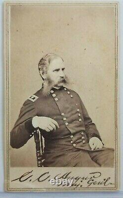 Original Christopher Augur CDV Signed Union General Civil War Brady Photo