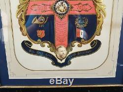 Original Civil War 79th NY Highlanders General David Morrison escutcheon