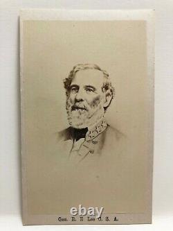 Original Civil War Era CDV General Robert E. Lee