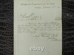 Original Civil War Promotion Order by General Butler in New Orleans 1862 Vermont