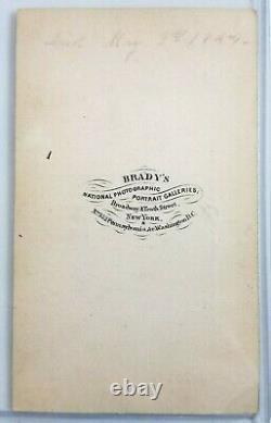 Original John Sedgwick CDV Signed Union General Civil War Brady Photo
