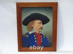 Painting of Civil War General George A. CUSTER 25 x 20 Custers Last Stand