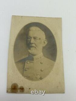 Photo Confederate Civil War Virginia 3 Star General With Southern Cross of Honor