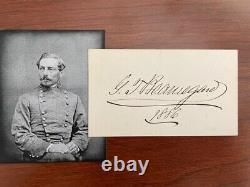 Pierre G. T. Beauregard Signed Card, General Csa, CIVIL War, Railroad President