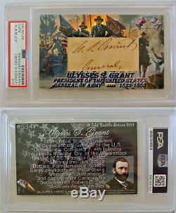 President & General Ulysses S. Grant #534 2018 Esi CIVIL War Psa/dna Autograph