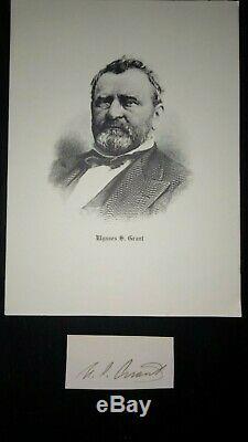 President Ulysses S. Grant Autograph Civil War Union General 1864 Signed