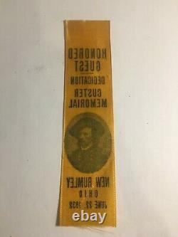 RARE! Civil War GENERAL CUSTER MEMORIAL DEDICATION NEW RUMLEY, OHIO RARE! 1932