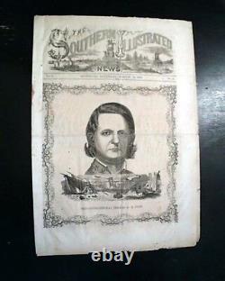 RARE General Cobb CONFEDERATE Illustrated Civil War RICHMOND VA 1863 Newspaper