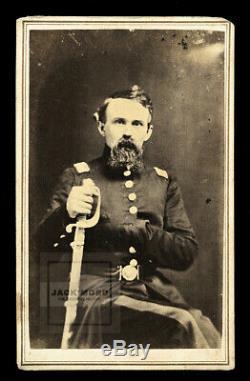 RARE One Of A Kind 1860s CDV Photo Georgia Civil War Confederate GENERAL DOLES