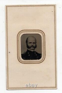 Rare 1860s Civil War Tintype Photo of General Ambrose Burnside in Uniform