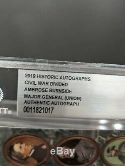 Rare Civil War divided Autograph General AMBROSE BURNSIDE historic autographs