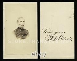 Rare Signed CDV, Civil War General Joseph Dana Webster, 1860s Original Photo