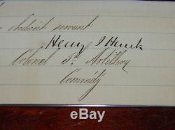 Signature Civil War General Henry Hunt