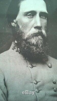 Signed Document Confederate John Bell Hood Union General George Crook Civil War