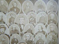 Statesmen & Generals South & North of the American Civil War cdv Original