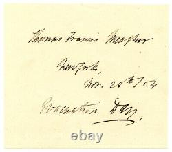THOMAS F MEAGHER, Civil War Union General/Montana Territory Gov, Autograph 8325