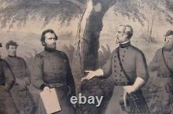 The Surrender Of General Lee 1865 John Smith Publisher Phili. Rare Print