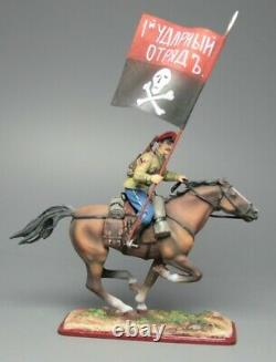 Tin soldier, Standard-bearer of General Kornilov, the Russian Civil War. 54mm