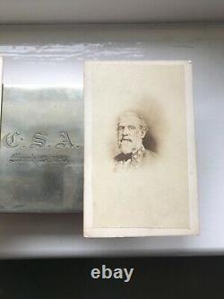 Two rare original civil war confederate generals Robert E Lee stonewall Jackson