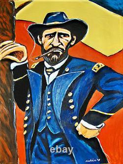 ULYSSES S. GRANT CIGAR PRINT poster civil war union general uniform president