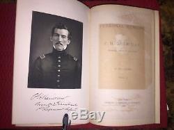 USA Civil War Book Maps 1888 PERSONAL MEMOIR OF SHERIDAN Major General Charles M