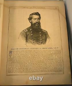 U S GRANT AND HIS GENERALS 1865 Civil War Portraits Bios. And Vintage ads Scarce
