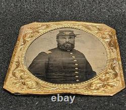 U. S. Officer Union Civil War Tintype Photo Picture Army Soldier Rare 1800s