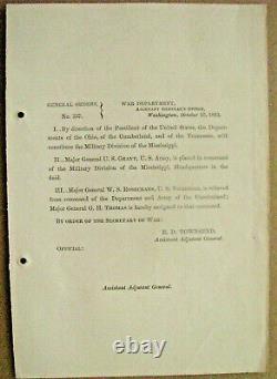 Us Grant Command General Order Tennessee CIVIL War