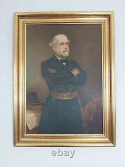 VTG Civil War General Robert E Lee And Stonewall Jackson Framed Print J. A. Elder