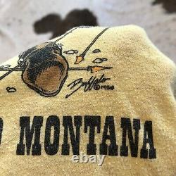 Vintage 80s General Custer Battlefield T Shirt Large Montana Sioux Civil War VTG