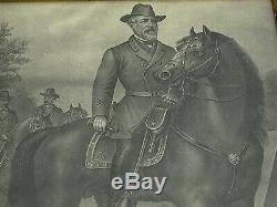 Vintage Civil War Confederate General Robert E. Lee Framed Portrait