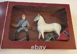 Vintage Hartland General Lee Figure & Traveller Original Horse, Sword, Hat, Flag