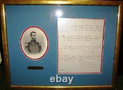WILLIAM S. ROSECRANS, Civil War Union General War date document signed twice