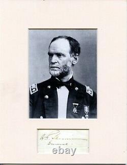 WILLIAM TECUMSEH SHERMAN, Civil War Union General/Army Commander, Autograph 8333