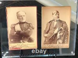 William Tecumseh Sherman Twice Signed CDV with Other Civil War Generals