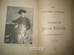 X RARE CONFEDERATE GENERAL WHEELER CAVALRY CIVIL WAR BATTLES SHERMAN Santiago